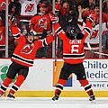 Minnesota Wild V New Jersey Devils by Jim Mcisaac