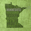 Minnesota Word Art State Map on Canvas by Design Turnpike