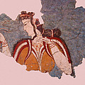 Minoan Wall Painting by Ellen Henneke