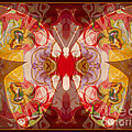 Miracles Can Happen Abstract Butterfly Artwork by Omaste Witkowski