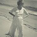 Miriam Hopkins On A Beach by Edward Steichen
