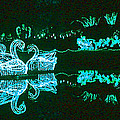 Mirror Lake Reflections In Teal by Marian Bell
