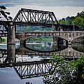 Mirrored Bridges by Michael Brooks