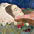 Miss Ria Munk On Her Deathbed by Gustav Klimt