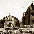 Mission Dolores San Francisco Earthquake And Fire Of April 18 1906 by California Views Archives Mr Pat Hathaway Archives