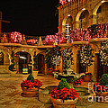 Mission Inn Christmas Chapel Courtyard by Tommy Anderson