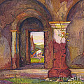 Mission Of San Juan Capistrano By Rowena Meeks Abdy 1887-1945  by California Views Archives Mr Pat Hathaway Archives