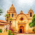 Mission San Carlos Borromeo De Carmelo Impasto Style by Dan McManus