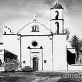 Mission San Luis Rey Bw Blue by Kip DeVore