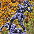 Mississippi At Gettysburg - Desperate Hand-to-hand Fighting No. 5 by Michael Mazaika