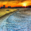 Beach - Coastal - Sunset - Mississippi Gold by Barry Jones