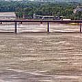 Mississippi River At I-72 by C H Apperson