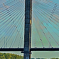 Mississippi River Bridge At Cape Girardeau Mo  by Debbie Portwood