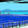 Mississippi River Bridge Poster by Alys Caviness-Gober