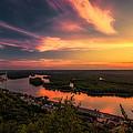 Mississippi River Evening by Tom Gort