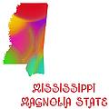 Mississippi State Map Collection 2 by Andee Design