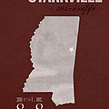 Mississippi State University Bulldogs Starkville College Town State Map Poster Series No 068 by Design Turnpike