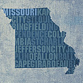 Missouri Word Art State Map on Canvas by Design Turnpike