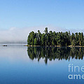 Mist On Lake Of Two Rivers by Barbara McMahon