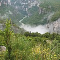 Mist Over Grand Canyon Du Verdon  by Christiane Schulze Art And Photography
