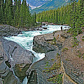 Mistaya Canyon Along Icefield Parkway In Alberta by Ruth Hager