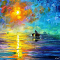Misty Calm - Palette Knife Oil Painting On Canvas By Leonid Afremov by Leonid Afremov