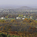 Misty Fall Pano Of The Shenandoah Valley by Lynn Bauer