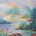 Misty Morn On A  Mountain Lake by Ellen Levinson