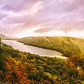 Misty Morning At Lake Of The Clouds by Peg Runyan