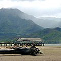 Misty Morning Hanalei by John Greaves
