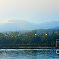 Misty Morning In Port Angeles by Connie Fox