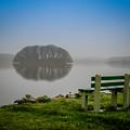 Misty Morning On Lake Knockalough by James Truett