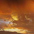 Misty Sunset by Gary Benson