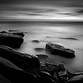 Misty Water Black And White by Peter Tellone