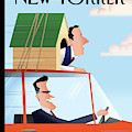 Mitt Romney Driving With Rick Santorum In A Dog by Bob Staake