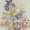 Mixed Flowers In A Cornucopia by Thomas Robins