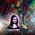 Mixed Media Abstract Post Modern Art By Alfredo Garcia Mona Lisa 2 by Alfredo Garcia