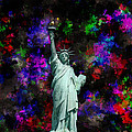 Mixed Media Statue Of Liberty by Phil Perkins