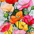 Mixed Poppies by Karin  Dawn Kelshall- Best