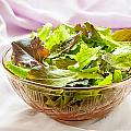 Mixed Salad On Table by Alain De Maximy