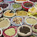 Mixed Spices In Market Of Cairo Egypt by Jacek Malipan
