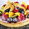 Mixed Tropical Fruit Tart by Elena Elisseeva