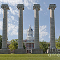 Mizzou Jesse Hall And Columns by Kay Pickens