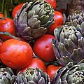 Articholes And Tomatoes by Debi Demetrion