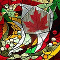 Mosaic  Stained Glass - Canadian Maple Leaf by Catherine Van Der Woerd