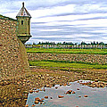 Moat And Wall Around Fortress In Louisbourg Living History Museum-ns by Ruth Hager
