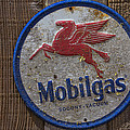 Mobil Gas Sign by Garry Gay