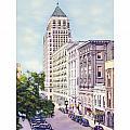 Mobile Alabama - North On St. Joseph Street - Merchants National Bank - 1937 by John Madison