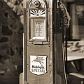 Mobilgas Special - Wayne Pump - Sepia by Mike McGlothlen