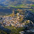 Moclin Castle From The Air by Guido Montanes Castillo